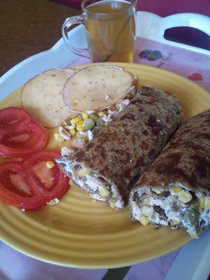 pancakes with buckwheat flour