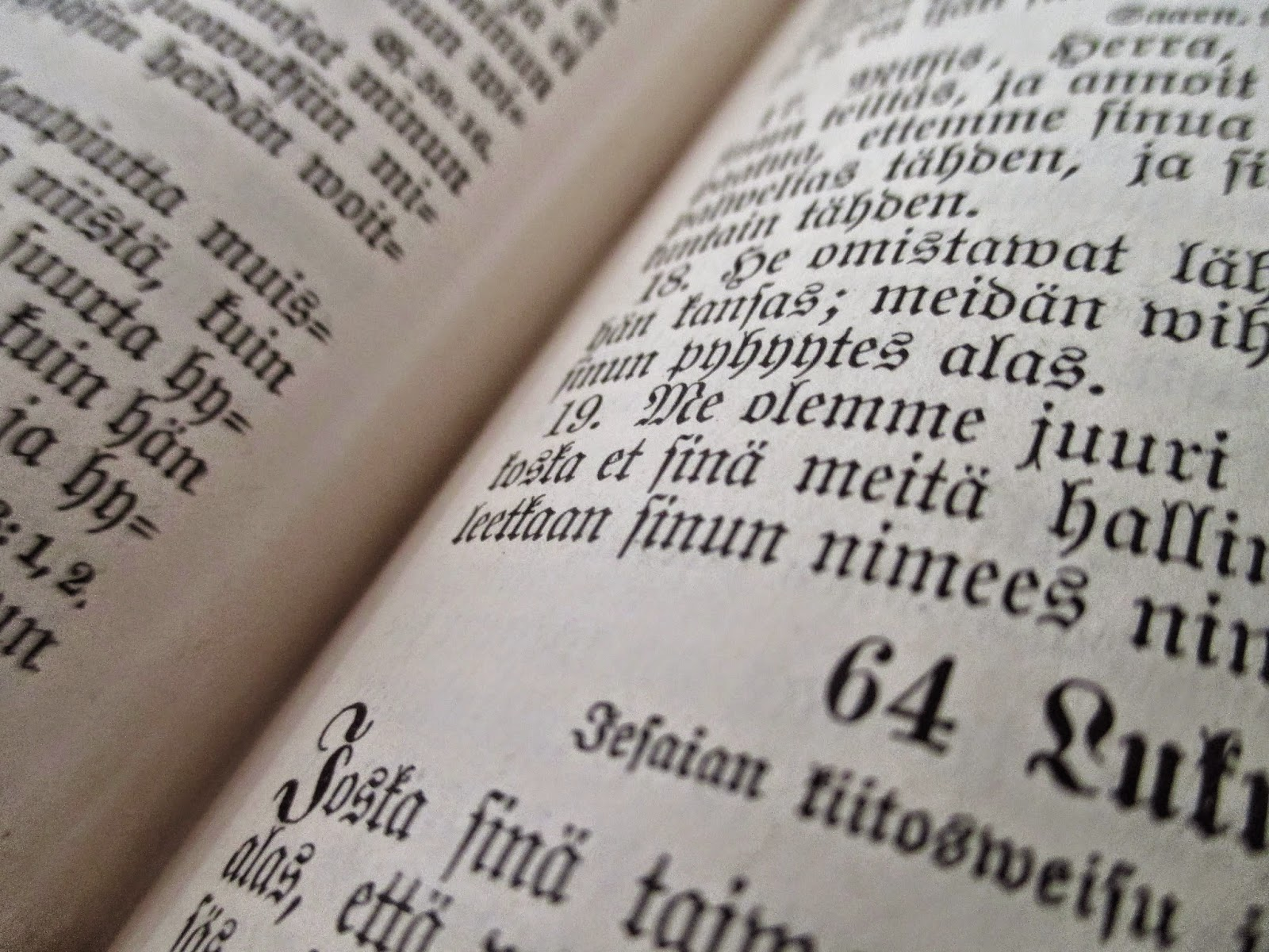 Biblia, vanha teksti,