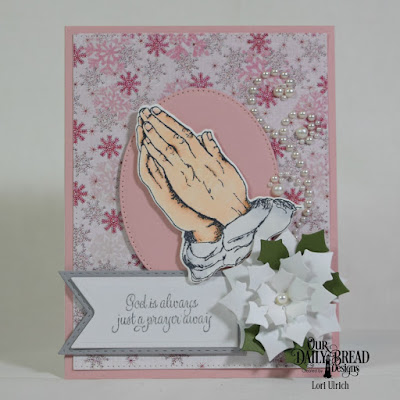 Our Daily Bread Designs Stamp Set: Handle With Prayer  Our Daily Bread Designs Paper Collection: : Snowflake Season, Our Daily Bread Designs Custom Dies:Pierced Rectangles, Pierced Ovals, Peaceful Poinsettias, Praying Hands, Pennant Flags, Double Stitched Pennant Flags