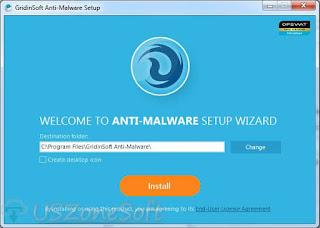 Gridinsoft Anti-Malware setup screen
