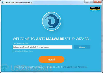 Gridinsoft Anti-Malware setup screen