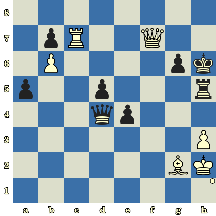Les Blancs jouent et matent en 4 coups. Igor Lysyj vs Vladimir Afromeev, Internet, 2004