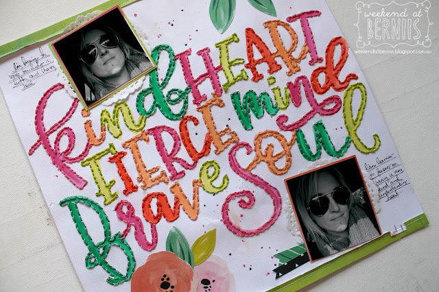 """Kind Heart "" layout by Bernii Miller for Scrapping Clearly using the Fancy Free collection by Paige Evans."