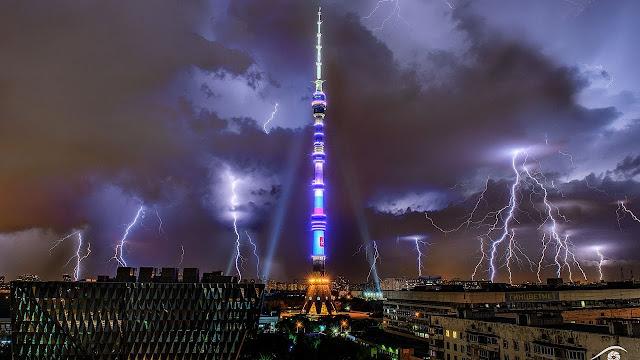 Torres enormes e com alta capacidade de transmissão