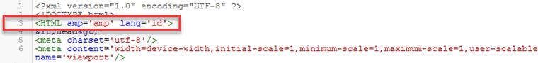 Buat HTML AMP