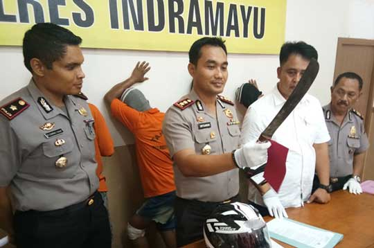 polres indramyu amankan begal motor