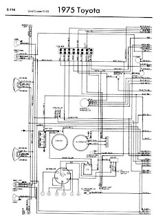 repair-manuals: Toyota Land Cruiser FJ55 1975 Wiring Diagrams
