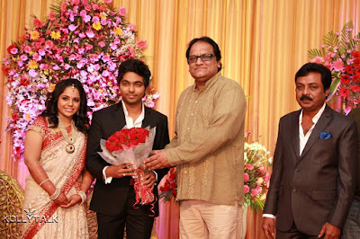 Music Director Bharadwaj at GV Prakash Saindhavi Wedding Reception