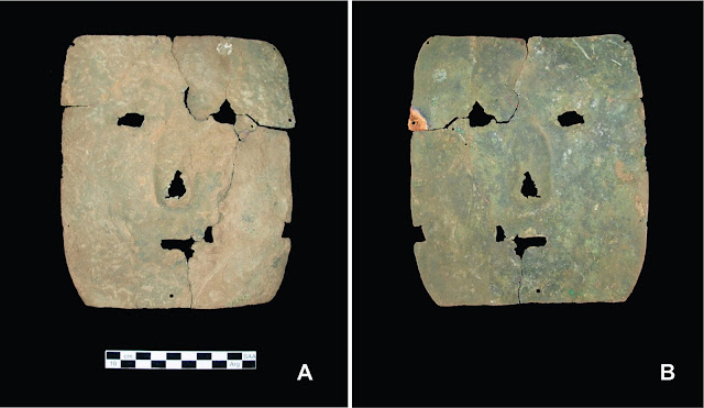 3,000 year old copper mask discovered in Argentina