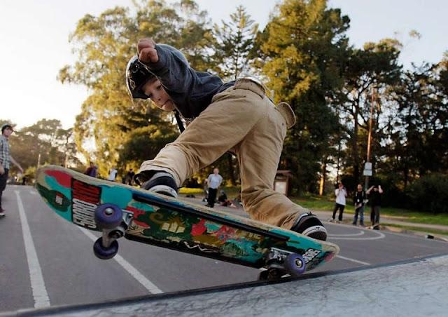 is anyone evacuated the pool Skate Longboard?