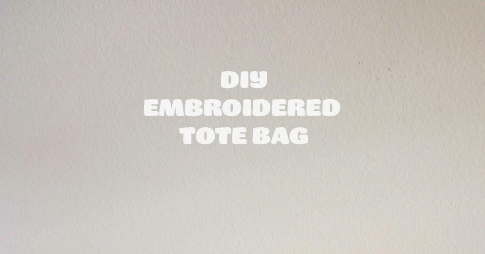 The Pink Samurai: DIY • Embroidered Cat Tote Bag