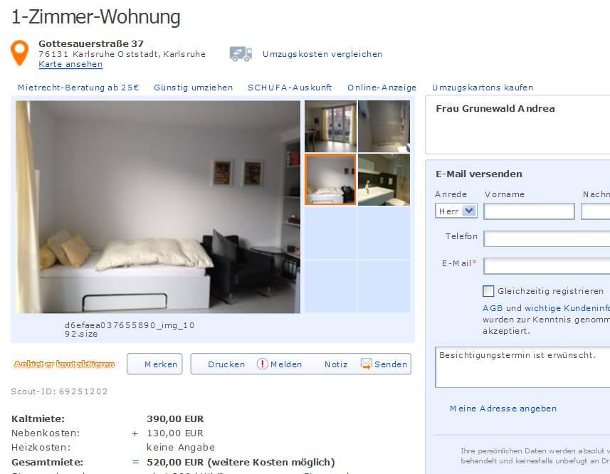 Karlsruhe single wohnung