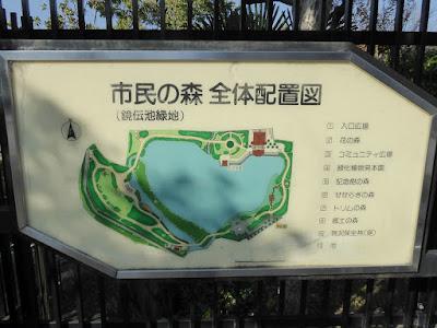 市民の森(鏡伝池緑地) 全体配置図