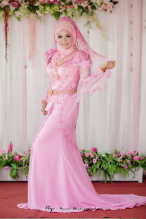 Gaun Kebaya Dress Muslim Warna Pink