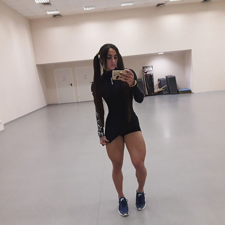 23-year-old female bodybuilder from the Dnieper Bahar Nabieva