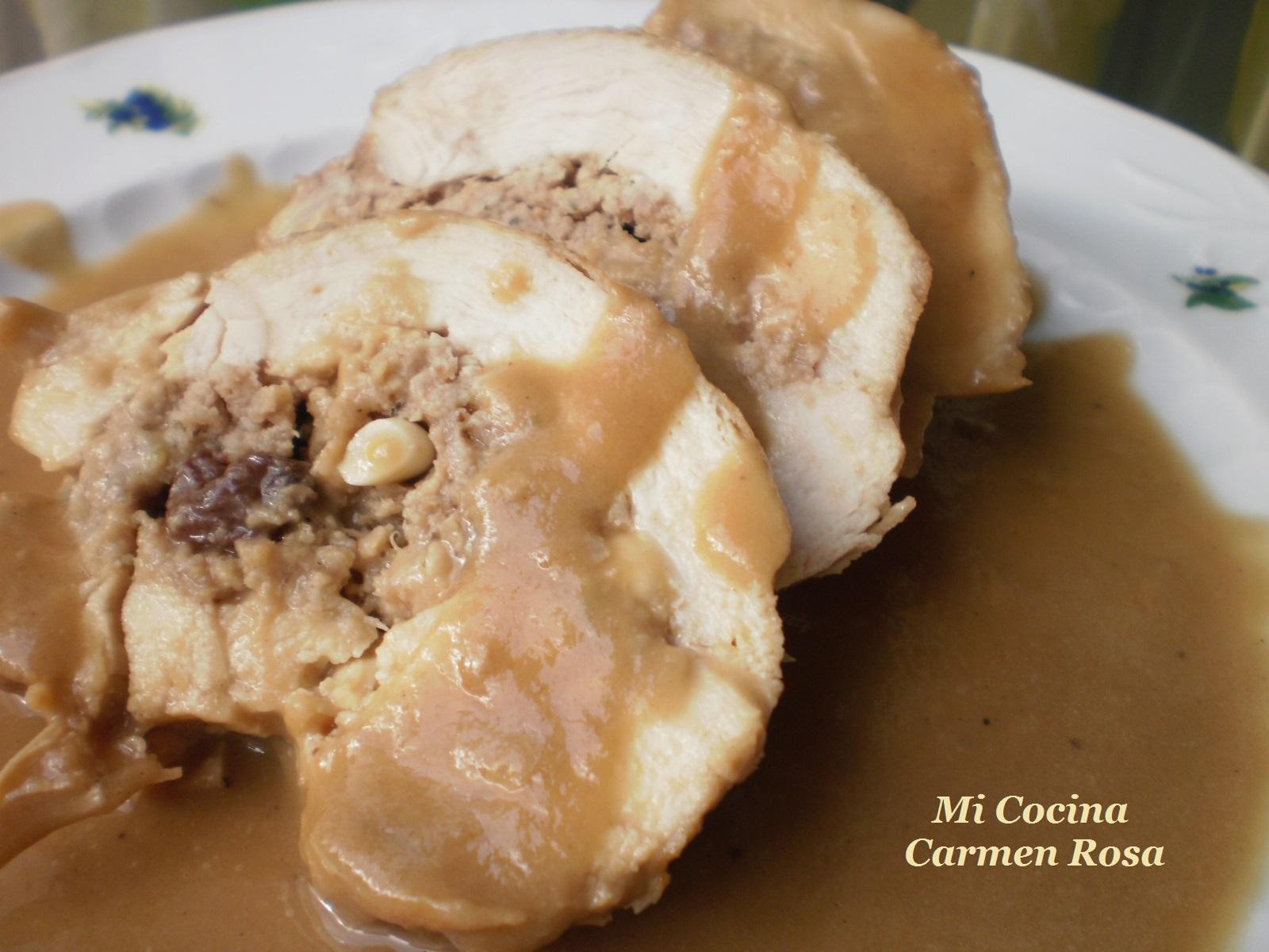 Mi cocina solomillo de cerdo relleno de casta as pasas y for Mi cocina malaga