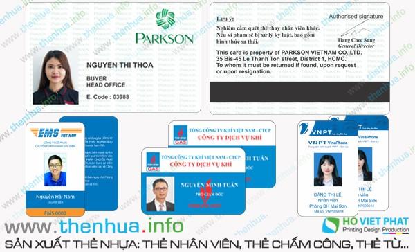 In name card nhựa trong suốt chất lượng