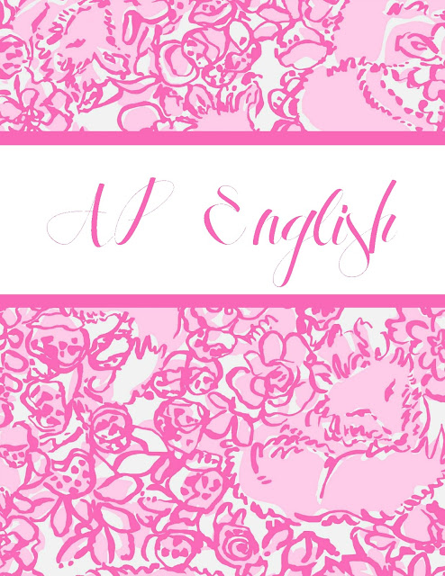 lilly pulitzer binder cover free printable ap english class lilly pulitzer she's a fox pink print studying organization preppy southern style brand