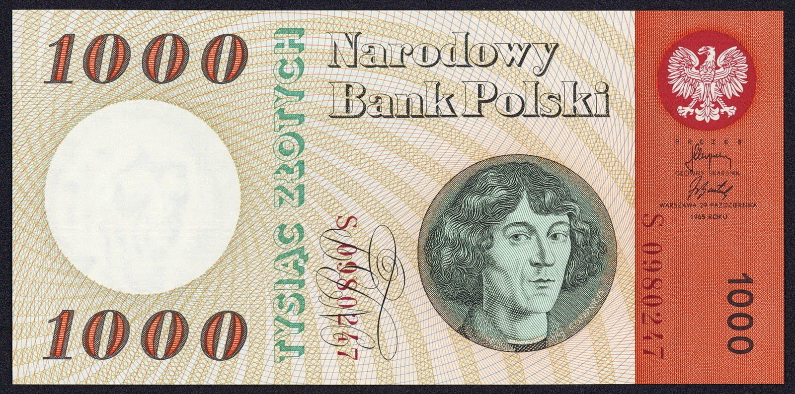 Poland Banknotes 1000 Zloty banknote 1965 Nicolaus Copernicus