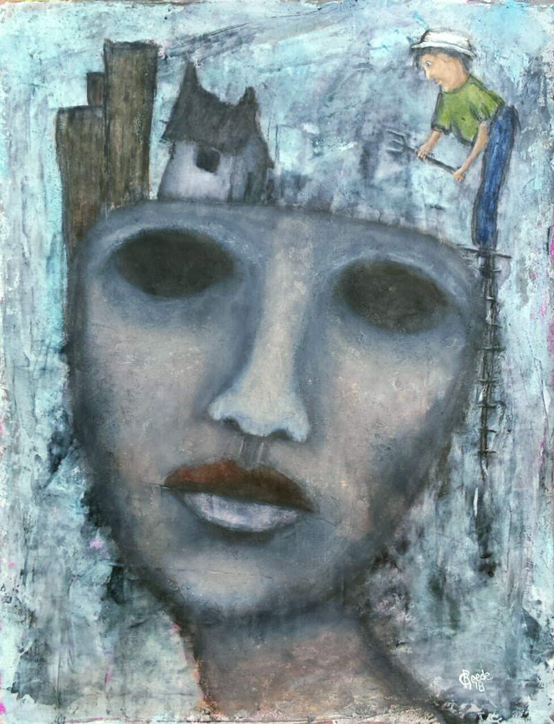 Figurative art by Chelsea Reede a mixed-media artist from San Diego, California, USA.