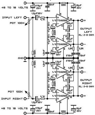5 Watts Audio Amplifier Circuit Diagram Audio Mixer
