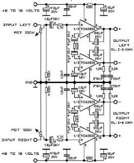 Flow diagrams: TDA2005 2 X 20 Watt Power Amplifier
