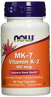 Vitamin K-2 (MK7) Veg Capsules, 100 mcg, 60 Count
