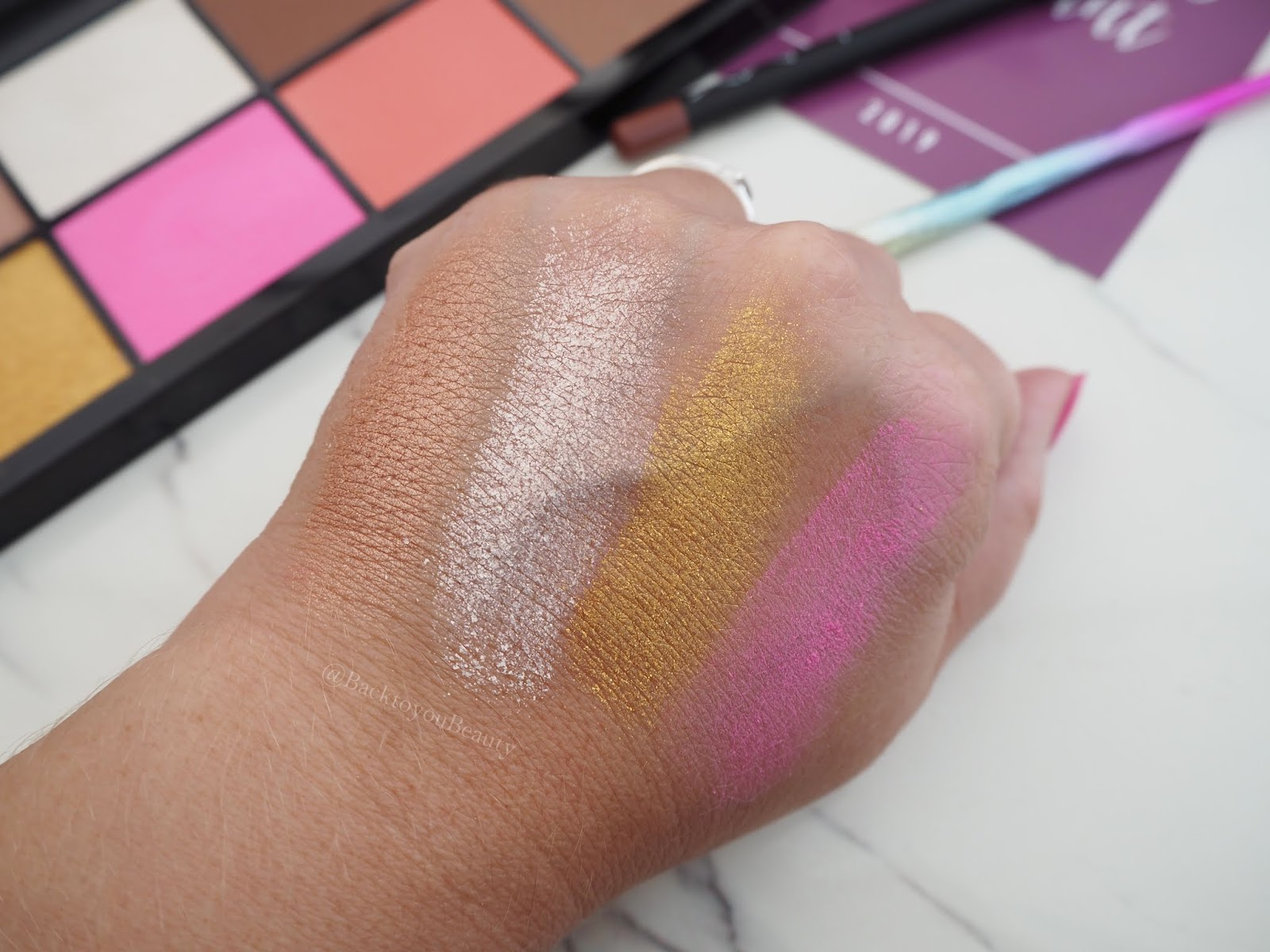 LMX Beauty Face Palette Swatches 1