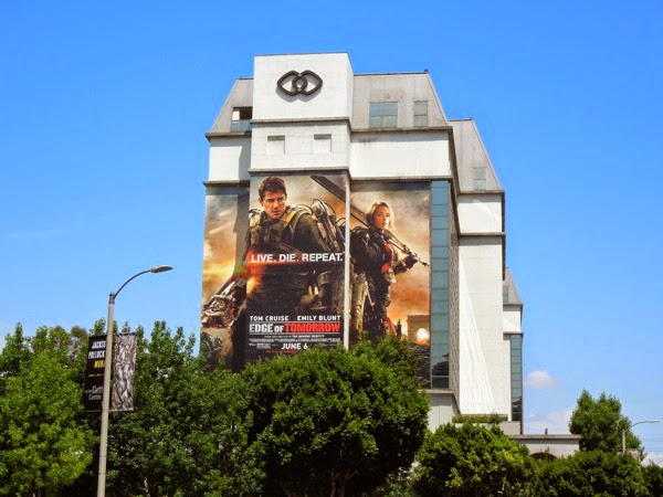 Giant Edge of Tomorrow film billboard