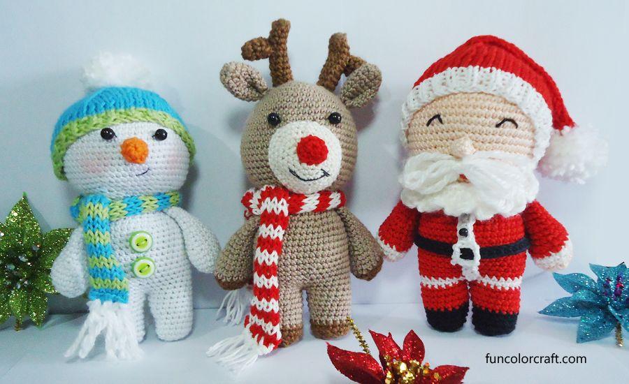 Amigurumi Christmas Crochet Patterns Free Funcolor Craft Inspiration Christmas Crochet Patterns