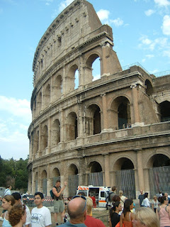 The Colisseum in Rome is a focal point for Easter celebrations