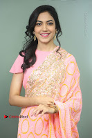 Actress Ritu Varma Pos in Beautiful Pink Anarkali Dress at at Keshava Movie Interview .COM 0040.JPG