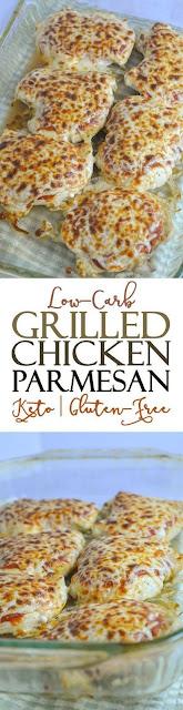 Low Carb Gluten-Free Grilled Chicken Parmesan