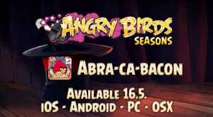 ABRA-CA-BACON update from Rovio for Angry Birds Seasons for both iOS and Android