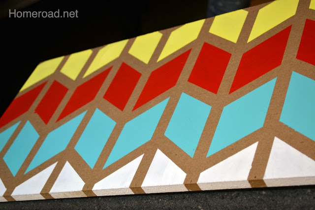 How to make a painting using chevron design. Homeroad.net