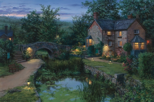 17-Old-Pond-Evgeny-Lushpin-Scenes-of-Realistic-Night-Time-Paintings-www-designstack-co