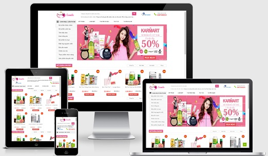 Template blogspot bán mỹ phẩm style2
