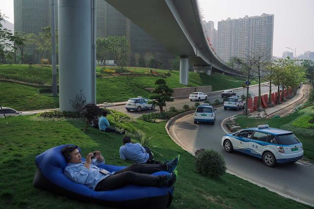 Taxi Mobil listrik BYD di China ( Sumber : Bloomberg )