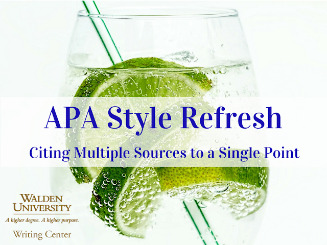A refreshing beverage to help you refresh you APA skills!