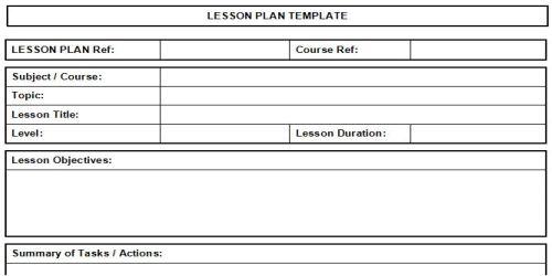 nursing teaching plan template - all templates lesson plan templates free