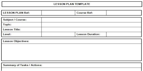 All Templates Lesson Plan Templates Free