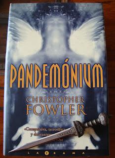 Portada del libro Pandemónium, de Christopher Fowler
