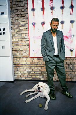 image result for Stefano Pilati and white boxer dog Bepi