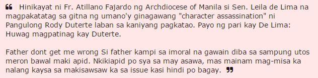 "Erwin Tulfo Rebuked Saying ""Mas Mainam Mag-Misa Ka Nalang"" Fr. Fajardo After He Encouraged De Lima!"