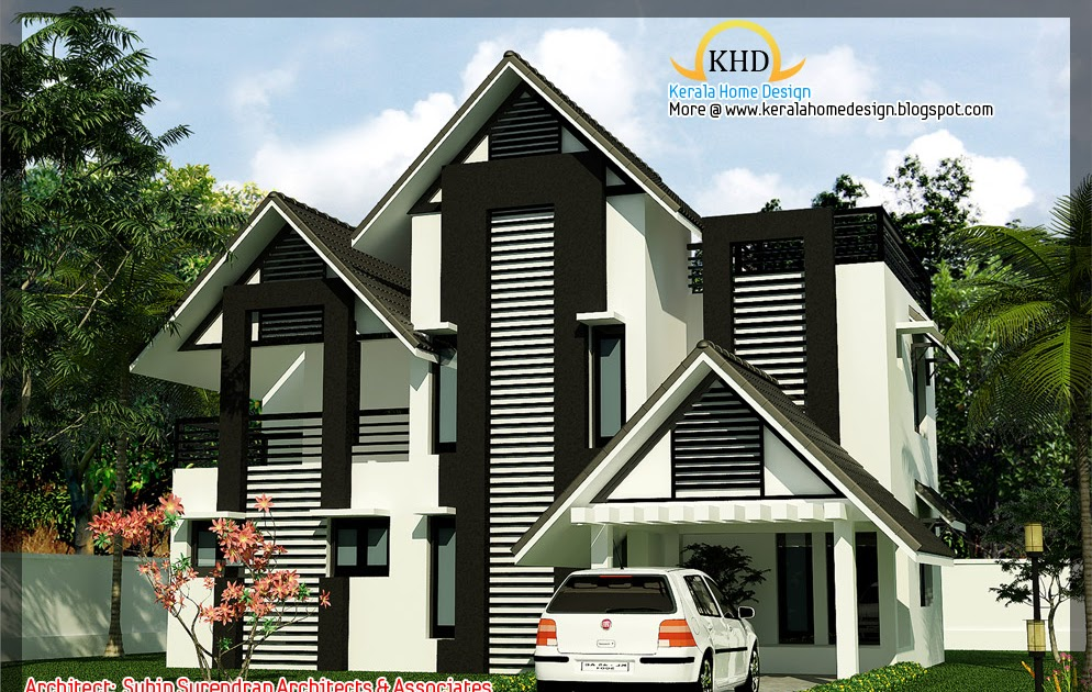 Beautiful Villa Elevation 2250 Sq Ft Kerala Home