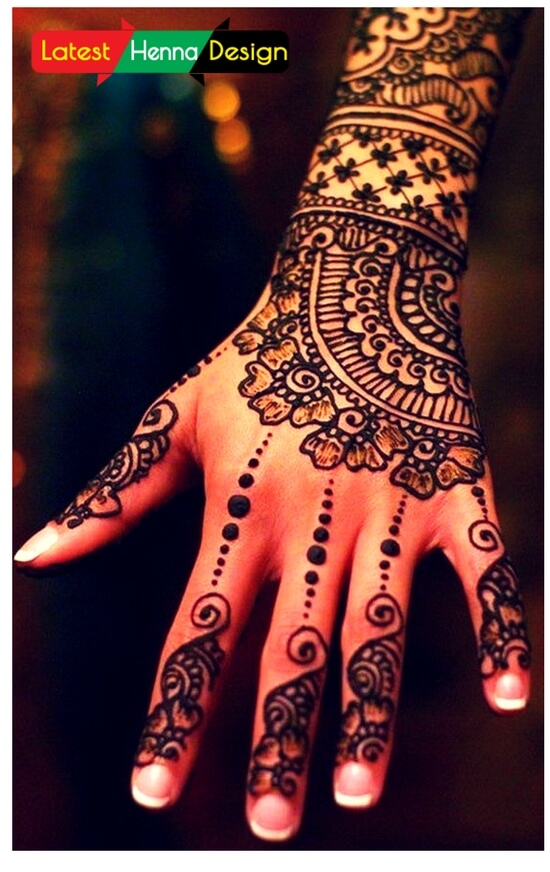 simple henna designs for bridles to overcome the heavy and traditionally hard henna designs.-latesthennadesigns