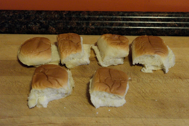 The Hawaiian rolls for the bbq chicken sliders.