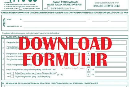 Download Formulir Pajak SPT Versi 2018/2019