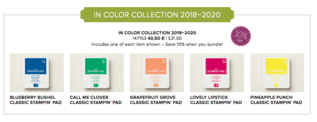 Stampin' Up! 2018-2020 new In Colours