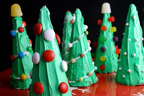 Ice Cream Cone Christmas Trees, The Hungry Housewife